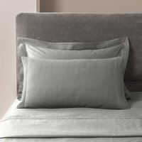 5A Fifth Avenue Modal Platinum Pintuck Cuffed Housewife Pillowcase Pair Platinum
