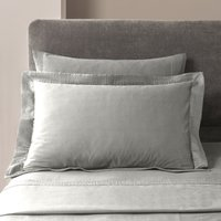 5A Fifth Avenue Modal Platinum Pintuck Cuffed Oxford Pillowcase Platinum