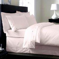 Dorma 350 Thread Count 100% Cotton Blush Pink Duvet Cover Blush (Pink)