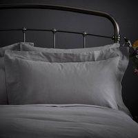 Fogarty Natural Cosy Grey Oxford Pillowcase Grey