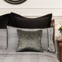 Dorma Kensington Silk Cushion Black