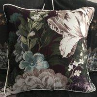 Dorma Burford Floral Silk Cushion Multi Coloured