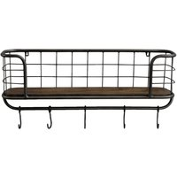Farringdon Wall Shelving Unit Brown