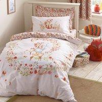 Woodland Duvet Cover and Pillowcase Set Multi-coloured