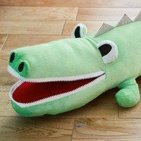 Crocodile Cushion Green