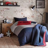 Jersey Navy Blue Bedding Set Blue