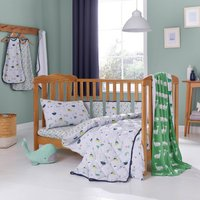 Ahoy There Cot Bed Duvet and Pillowcase Set Multi-coloured