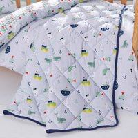 Ahoy There Coverlet White