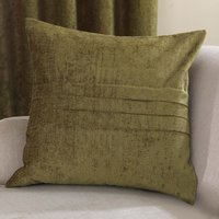 Large Chenille Forest Green Cushion Forest (Green)