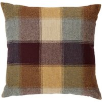 Large Plum Heritage Check Cushion Plum Purple