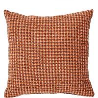 Caelian Mini Check Rust Cushion Rust (Orange)