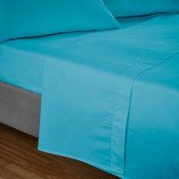 Easycare Plain Dye Vivid Blue Flat Sheet Midnight (Blue)