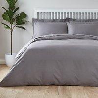 Easycare Plain Dye 100% Cotton Dove Grey Duvet Cover Dove (Grey)
