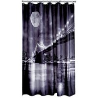 Brooklyn Bridge Shower Curtain Grey