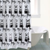 Zebra Shower Curtain Grey