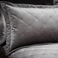 Velvet Velour Silver Pillow Sham Silver