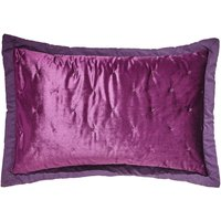 Velvet Velour Plum Pillowsham Plum (Purple)