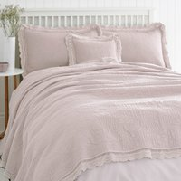 Lace Edge Blush Bedspread Blush (Pink)
