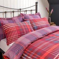 Declan Check Reversible Duvet Cover and Pillowcase Set Multi Coloured