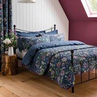 Elvedon Floral Bedspread Blue