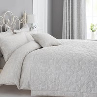 Etienne Stone Jacquard Bedspread Stone (grey)
