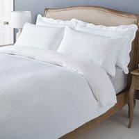 Marissa Matalasse White Duvet Cover and Pillowcase Set White