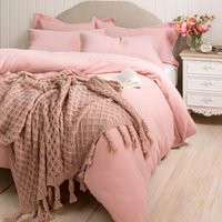 Blush Knit Throw Blush (Pink)