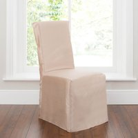 Pack of 2 Gold Faux Silk Chair Covers Gold