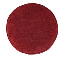 Chenille Round Red Cushion Red