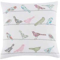 Little Birds Cushion Multi Coloured