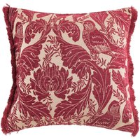 Heritage Bird Red Chenille Cushion Red
