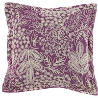 Aubrey Embroidered Purple Cushion Purple