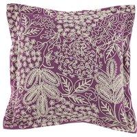 Aubrey Embroidered Purple Cushion Purple