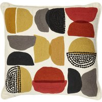 Elements Alton Crewel Cushion Multi Coloured