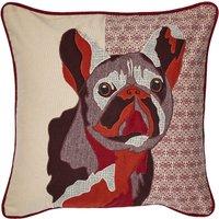 Roxy French Bull Dog Cushion Red