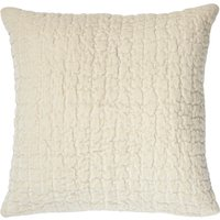 Bryony Cream Quilted Velvet Cushion Cream