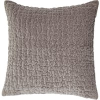 Bryony Grey Quilted Velvet Cushion Grey