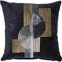 5A Fifth Avenue Navy Grand Central Bead Cushion Navy