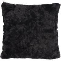 5A Fifth Avenue Emerson Black Faux Fur Cushion Black
