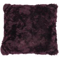 5A Fifth Avenue Emerson Plum Faux Fur Cushion Plum Purple