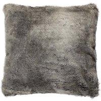 Verbier Grey Faux Fur Cushion Grey