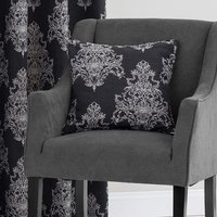 Bordeaux Black Jacquard Cushion Black