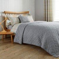 Elements Grey Quilted Bedspread Grey