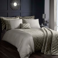 Octavia Emboridered Grey Duvet Cover Set Grey