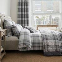 Dorma Sandringham Jacquard 100% Cotton Grey Duvet Cover Grey