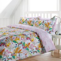Tropicana Reversible Duvet Cover and Pillowcase Set Pink