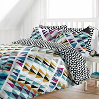 Zulu Reversible Duvet Cover and Pillowcase Set Multi