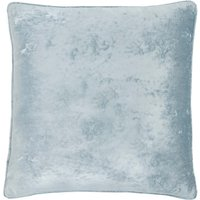 Crushed Velour Ice White Cushion Ice White