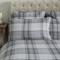 Dorma Sandringham Grey Housewife Pillowcase Grey