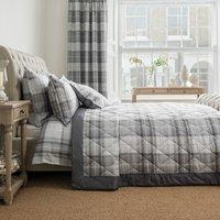 Dorma Sandringham Grey Bedspread Grey